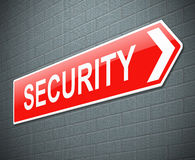 Security sign. Royalty Free Stock Photos