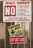 Security Signs Stock Photo