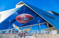 Security at Site of Super Bowl LIII stock photos