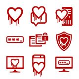 IT security and software bug icons Royalty Free Stock Image
