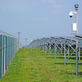 Security of solar power plant Royalty Free Stock Images