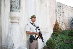 Security soldier  Royalty Free Stock Photo