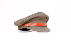 Security. Solo khaki colour security cap on a white background Royalty Free Stock Images