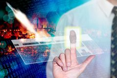 Security space technology concept Stock Photography