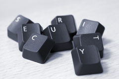 SECURITY spelled with keyboard keys Royalty Free Stock Photos
