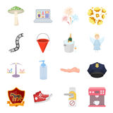 Security, sport, trade and other web icon in cartoon style.Service, electrical appliance, ritual icons in set collection. Security, sport, trade and other  icon Royalty Free Stock Photos