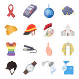 Security, sport, trade and other web icon in cartoon style.Service, electrical appliance, ritual icons in set collection. Security, sport, trade and other  icon Stock Photography