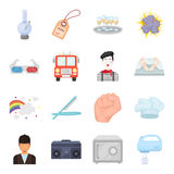 Security, sport, trade and other web icon in cartoon style.Service, electrical appliance, ritual icons in set collection. Security, sport, trade and other  icon Stock Images