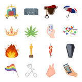 Security, sport, trade and other web icon in cartoon style.Service, electrical appliance, ritual icons in set collection Royalty Free Stock Image