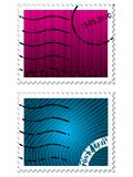 Security stamps. Color stamps with security elements Royalty Free Stock Images