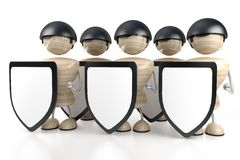 Security stands and guard. Abstract Security stands and guard, white background Royalty Free Stock Photos