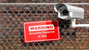 Security surveillance camera Royalty Free Stock Image