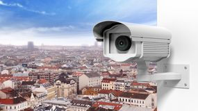 Security surveillance camera Royalty Free Stock Images