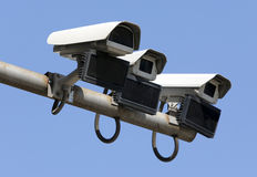 Security surveillance cameras isolated Royalty Free Stock Photos