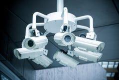 Security surveillance cameras Stock Photos