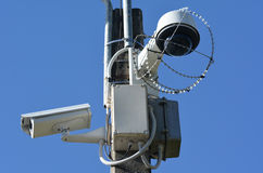 Security surveillance cameras Royalty Free Stock Image