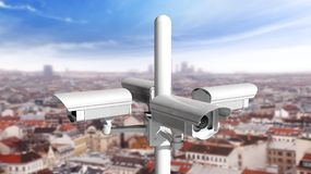 Security surveillance cameras Stock Image