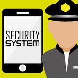 Security and surveillance system Royalty Free Stock Images