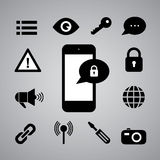 Security symbol Royalty Free Stock Photos