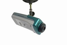 Security system. Video camera as a part of security system Stock Images