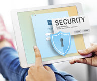 Security System Access Password Data Network Surveillance Concep Stock Image