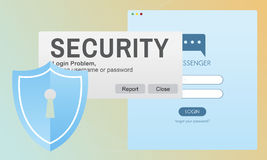 Security System Access Password Data Network Surveillance Concep. T Stock Images