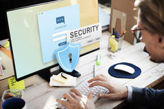 Security System Access Password Data Network Surveillance Concep. Security Password System Surveillance Concept Stock Photo
