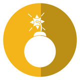 Security system concept bomb icon shadow yellow circle Royalty Free Stock Photos