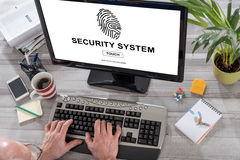 Security system concept on a computer Stock Photography
