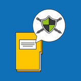 Security system data folder file Stock Images