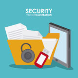 Security system desgin. Security system concept with insurance icons design, vector illustration 10 eps graphic Stock Photo