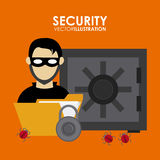Security system desgin. Security system concept with insurance icons design, vector illustration 10 eps graphic Royalty Free Stock Photos
