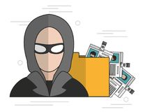 Security system design. Hacker of security system technology and protection theme Vector illustration Stock Photo
