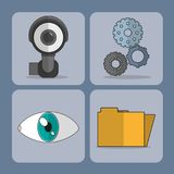 Security system design. Icon set of security system technology and protection theme Vector illustration Royalty Free Stock Photo