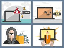 Security system design. Icon set of security system technology and protection theme Vector illustration Stock Image