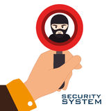 Security system design. Illustration eps10 graphic Stock Photography