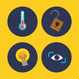 Security system design. Insurance concept with security sytem icons design, vector illustration 10 eps graphic Stock Image