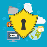 Security system design. Security system design over blue background ,vector illustration Royalty Free Stock Photo