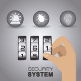 Security system design. Royalty Free Stock Photos