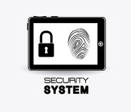 Security system design. Security system design over white background,  illustration Royalty Free Stock Photography