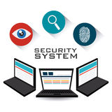Security system design. Stock Image