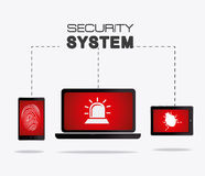 Security system design. Security system design over white background, vector illustration Stock Photography