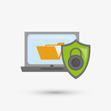 Security system design. protection icon.  isolated illustration. Security system concept with icon design, vector illustration 10 eps graphic Royalty Free Stock Image