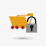 Security system design. protection icon.  isolated illustration. Security system concept with icon design, vector illustration 10 eps graphic Royalty Free Stock Photography