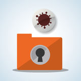 Security System design. Protection icon. Isolated illustration, vector. Security system  concept with icon design, vector illustration 10 eps graphic Royalty Free Stock Photo