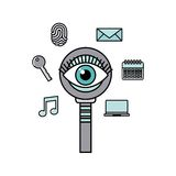 Security system design. Vector illustration eps10 graphic Stock Image