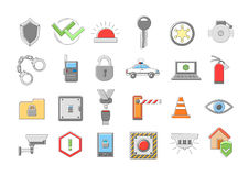 Security system  icons set. Set of 24 Security system  icons Stock Image
