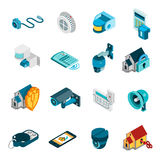 Security System Icons Set Stock Photos