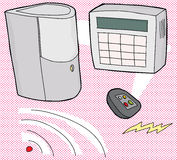 Security System Illustration Royalty Free Stock Image