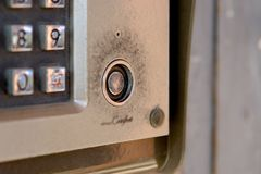 Security system - intercom on building with keypad and lock. Security system - intercom on building with keypad and lock Stock Photography
